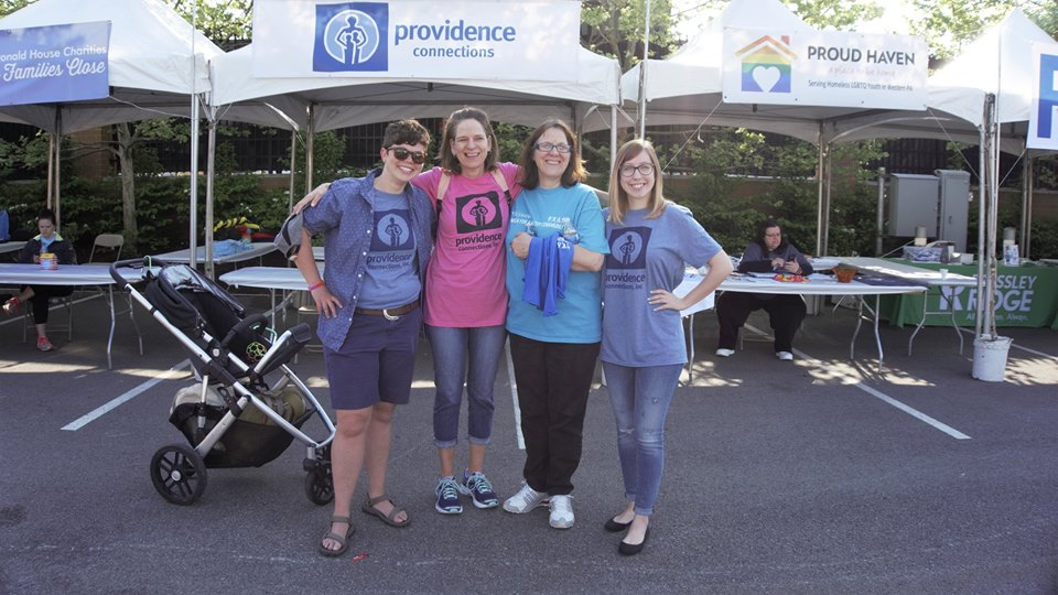 Providence Connections Childcare Staff: Ms. Shea, Ms. Mary, Ms. Kelly, and Ms. Rebecca