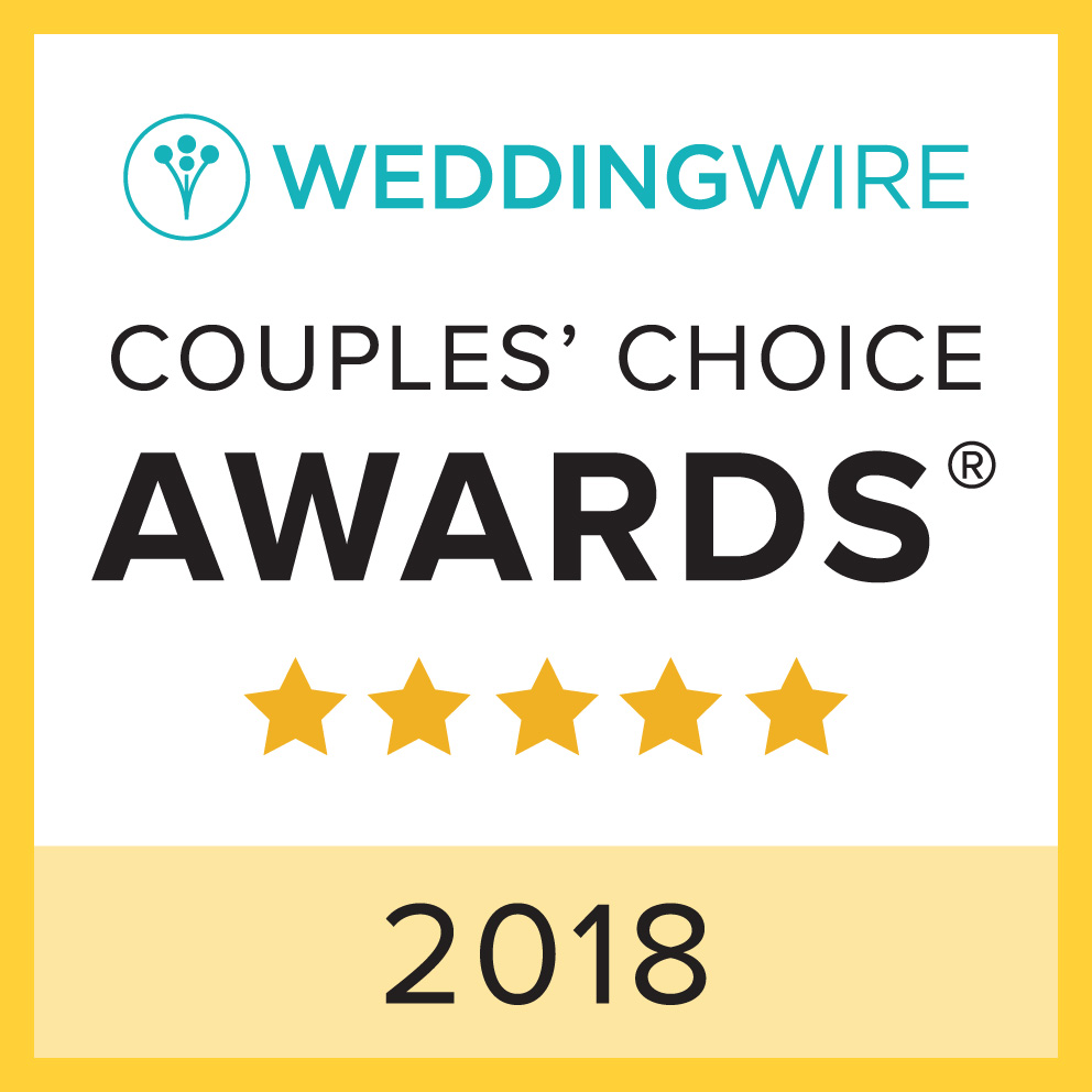 2018 Winner, WeddingWire Couples' Choice Awards