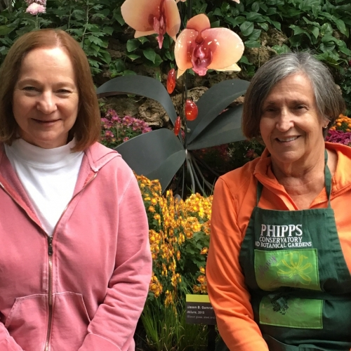 Volunteer Spotlight: Demetria Marsh and Nancy Kline, Orchid Society of Western Pennsylvania