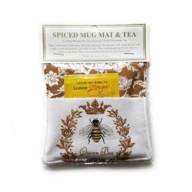 Queen Bee Spiced Mug Mat with Tea by Alice's Cottage