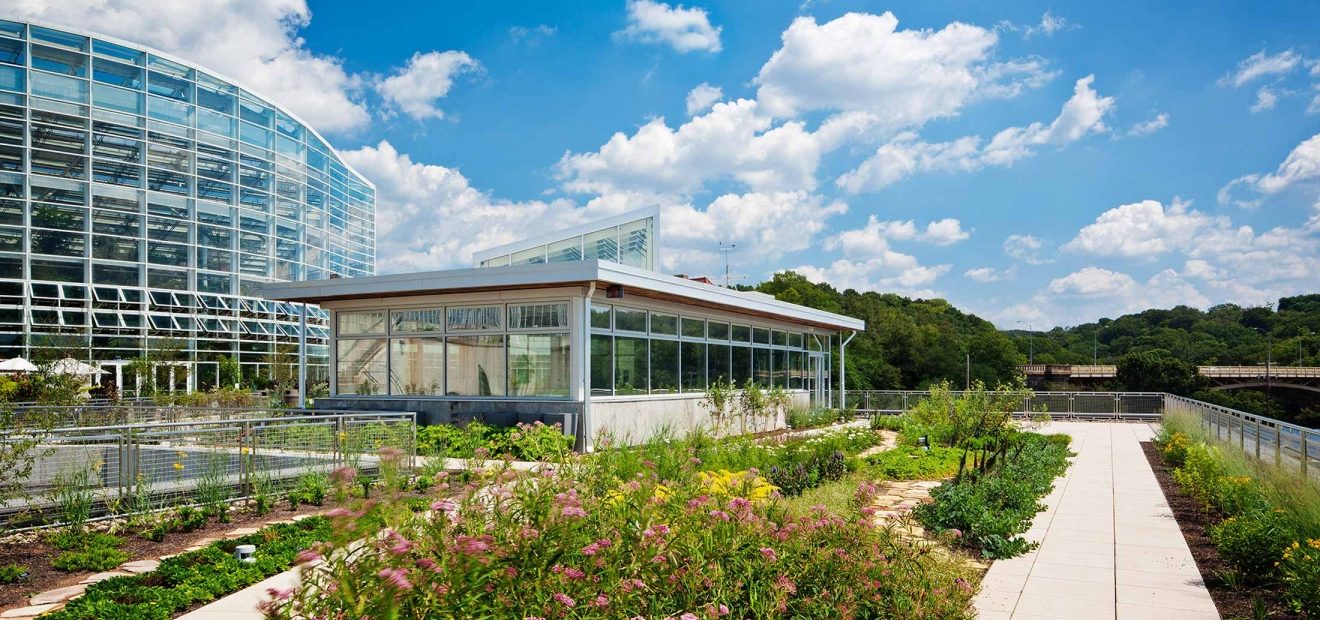 Center For Sustainable Landscapes Green Roof Phipps Conservatory And Botanical Gardens